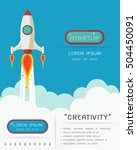space rocket launch. start up... | Shutterstock .eps vector #504450091