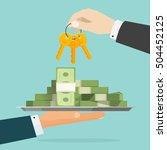 keys to success vector... | Shutterstock .eps vector #504452125