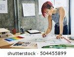design studio architect... | Shutterstock . vector #504455899