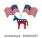 democrat political party animal ... | Shutterstock .eps vector #504465337
