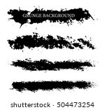 hand drawn brushes.vector brush ... | Shutterstock .eps vector #504473254
