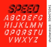 speed sport style font. vector... | Shutterstock .eps vector #504473341