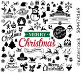 merry christmas  icons set... | Shutterstock .eps vector #504474169