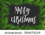 new year calligraphy  christmas ... | Shutterstock .eps vector #504475219