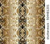 damask floral baroque vector...   Shutterstock .eps vector #504481201