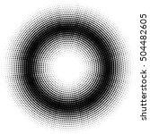 dots halftones vector... | Shutterstock .eps vector #504482605