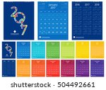 2017 calendar new year 12... | Shutterstock .eps vector #504492661