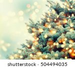 christmas tree background. | Shutterstock . vector #504494035