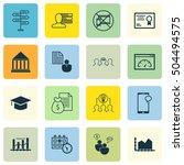 set of 16 universal editable... | Shutterstock .eps vector #504494575