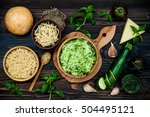 raw ingredients for vegetarian... | Shutterstock . vector #504495121