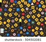 vector flat seamless texture... | Shutterstock .eps vector #504502081