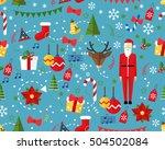 vector flat seamless texture... | Shutterstock .eps vector #504502084