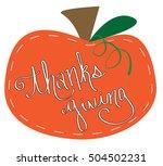 thanksgiving pumpkin | Shutterstock .eps vector #504502231
