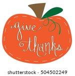 give thanks   Shutterstock .eps vector #504502249