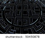 round labyrinth. done in... | Shutterstock . vector #50450878