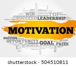 motivation word cloud collage ... | Shutterstock .eps vector #504510811