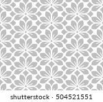seamless abstract floral... | Shutterstock . vector #504521551