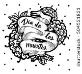 day of the dead vector card.... | Shutterstock .eps vector #504521821