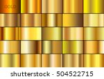 vector set of gold gradients... | Shutterstock .eps vector #504522715