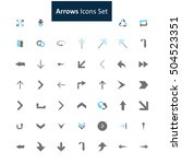blue and gray arrow icon set | Shutterstock .eps vector #504523351