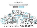 illustration of vector modern... | Shutterstock .eps vector #504523795