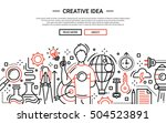 illustration of vector modern... | Shutterstock .eps vector #504523891
