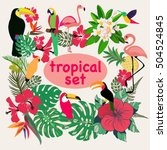 Vector Collection Of Tropical...