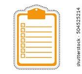 clipboard with checklist icon...