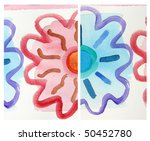 abstract watercolor background... | Shutterstock . vector #50452780