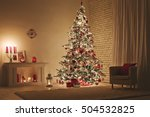feast of christmas. beautifully ... | Shutterstock . vector #504532825