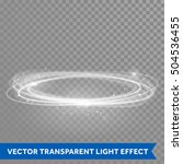 white ring light with tracing... | Shutterstock .eps vector #504536455