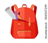 rred backpack schoolbag icon in ... | Shutterstock .eps vector #504537259