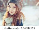 beautiful young woman relaxing... | Shutterstock . vector #504539119