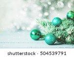 christmas decoration on... | Shutterstock . vector #504539791