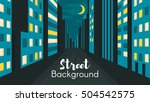 vector flat style illustration... | Shutterstock .eps vector #504542575