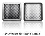 metal grid icon illustration. | Shutterstock . vector #504542815