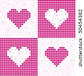 pattern from pink hearts | Shutterstock .eps vector #50454382