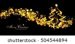 magical golden background with... | Shutterstock . vector #504544894
