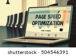 page speed optimization on... | Shutterstock . vector #504546391