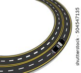 bend in the road with yellow... | Shutterstock . vector #504547135