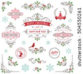 ornate christmas frames and... | Shutterstock .eps vector #504550261