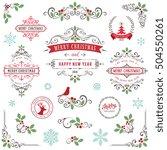 ornate christmas frames and...   Shutterstock .eps vector #504550261
