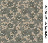 Skull Camouflage Texture Pixel...