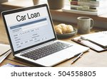 Small photo of Car Loan Application Form Concept