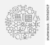chemistry vector illustration.... | Shutterstock .eps vector #504560419