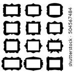 empty frame vector symbol icon... | Shutterstock .eps vector #504567484