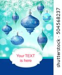 christmas background with... | Shutterstock . vector #504568237