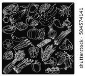 vegetables  vector | Shutterstock .eps vector #504574141