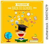 back to school banner... | Shutterstock .eps vector #504574279