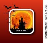happy halloween icon button ... | Shutterstock .eps vector #504575251